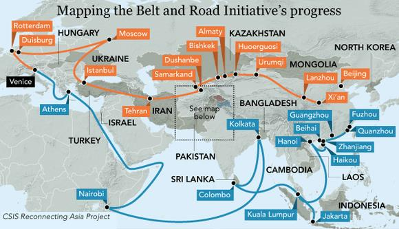 Image result for belt and road initiative middle east